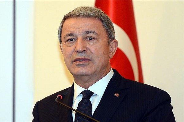 وزیر دفاع ترکیه: از حق خود در مدیترانه شرقی و اژه دفاع می کنیم