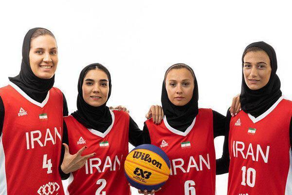 پیروزی تیم بسکتبال سه نفره بانوان ایران مقابل مغولستان