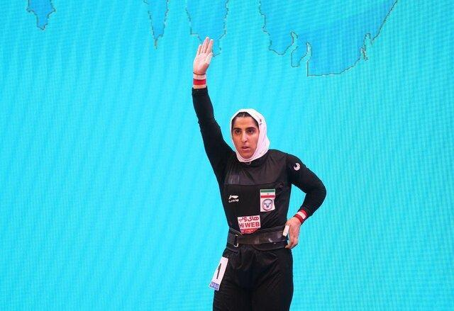 شانزدهمی الهام حسینی در وزنه برداری قهرمانی دنیا، شکستن رکوردهای ملی