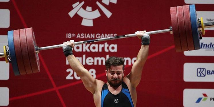 وزنه برداری قهرمانی دنیا، کیانوش رستمی اوت کرد